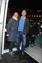 HOLLY BRANSON and FRED ANDREWS at a Winter Party hosted by Tiffany to celebrate the opening of the Ice Rink at Somerset House for Christmas 2011 held on 21st November 2011.