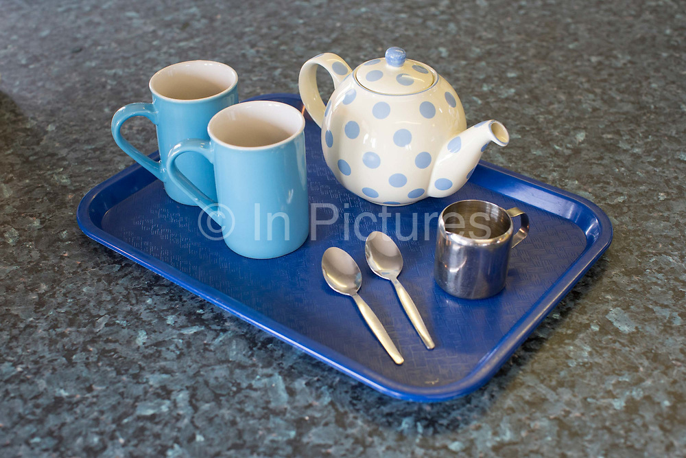 Tea for two at the Blue Sky Cafe on the 23rd June 2017 in Cromer in North Norfolk, United Kingdom