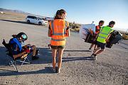 De Velox tijdens de eerste racedag in Battle Mountain. Het Human Power Team Delft en Amsterdam, dat bestaat uit studenten van de TU Delft en de VU Amsterdam, is in Amerika om tijdens de World Human Powered Speed Challenge in Nevada een poging te doen het wereldrecord snelfietsen voor vrouwen te verbreken met de VeloX 8, een gestroomlijnde ligfiets. Het record is met 121,81 km/h sinds 2010 in handen van de Francaise Barbara Buatois. De Canadees Todd Reichert is de snelste man met 144,17 km/h sinds 2016.<br /> <br /> With the VeloX 8, a special recumbent bike, the Human Power Team Delft and Amsterdam, consisting of students of the TU Delft and the VU Amsterdam, wants to set a new woman's world record cycling in September at the World Human Powered Speed Challenge in Nevada. The current speed record is 121,81 km/h, set in 2010 by Barbara Buatois. The fastest man is Todd Reichert with 144,17 km/h.