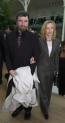 MR ALAN BATES and actress ANGHARAD REES at a party in London on 18th February 2000.OBG 2