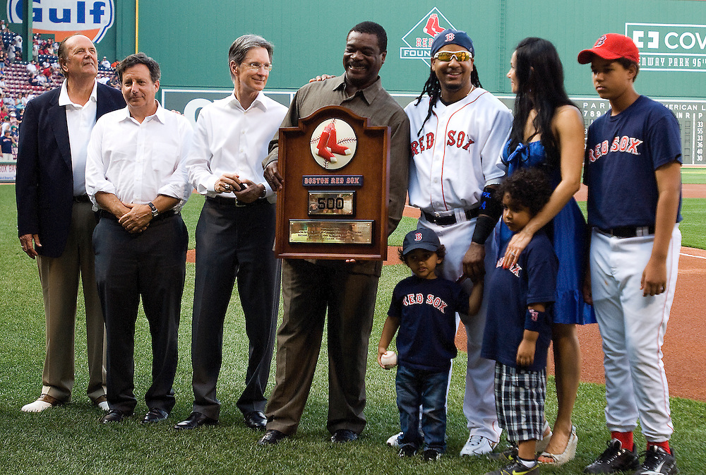 10 June 2008: during the Baltimore Orioles win 11-8 over the Boston Red Sox at Fenway Park in Boston, MA.