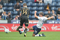 Preston North End's John Welsh battles with  Millwall's Jed Wallace<br /> <br /> Photographer Mick Walker/CameraSport<br /> <br /> The EFL Sky Bet Championship - Preston North End v Millwall - Saturday 23rd September 2017 - Deepdale Stadium - Preston<br /> <br /> World Copyright © 2017 CameraSport. All rights reserved. 43 Linden Ave. Countesthorpe. Leicester. England. LE8 5PG - Tel: +44 (0) 116 277 4147 - admin@camerasport.com - www.camerasport.com