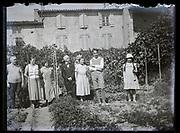 family group portrait in garden France 1933