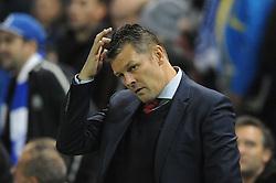 Bristol City manager, Steve Cotterill - Mandatory byline: Dougie Allward/JMP - 07966 386802 - 20/10/2015 - FOOTBALL - American Express Community Stadium - Brighton, England - Brighton v Bristol City - Sky Bet Championship