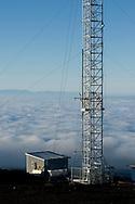 Meteorological sampling tower, Mauna Loa Observatory, Hilo, Hawaii.