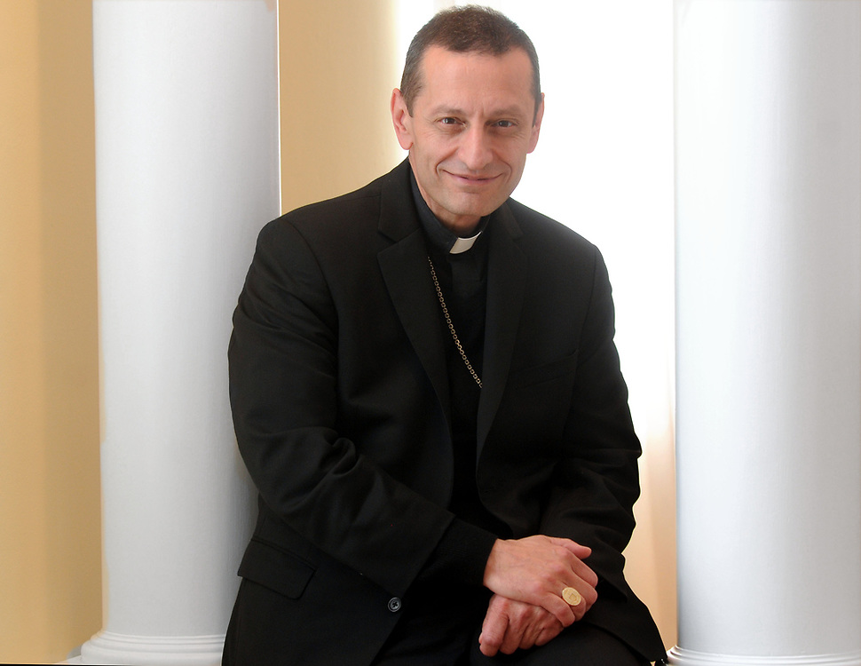 (Mara Lavitt — New Haven Register) <br /> October 4, 2013 Bridgeport.<br /> The archdiocese of Bridgeport has a new head: Bishop Frank J. Caggiano.