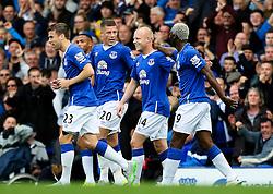 Everton's Steven Naismith celebrates after scoring his sides second goal  - Mandatory byline: Matt McNulty/JMP - 07966386802 - 12/09/2015 - FOOTBALL - Goodison Park -Everton,England - Everton v Chelsea - Barclays Premier League