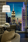 View from dining room, Bacarrat Residences, NYC.
