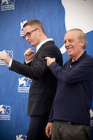 Director Nicolas Winding Refn and Dario Argento at the Dawn Of The Dead - European Cut film photocall at the 73rd Venice Film Festival, Sala Grande on Friday September 2nd 2016, Venice Lido, Italy.