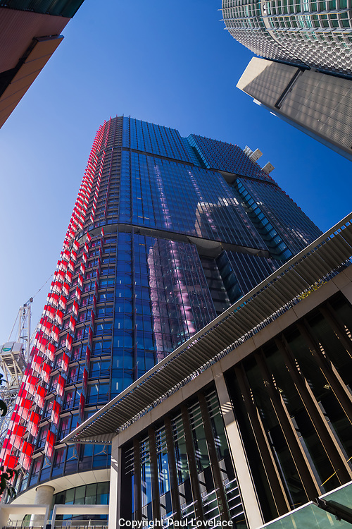 General views of the Barangaroo development project showing the progress which has been made including residential apartments.