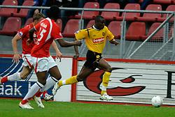 09-05-2007 VOETBAL: PLAY OFF: UTRECHT - RODA: UTRECHT<br /> In de play-off-confrontatie tussen FC Utrecht en Roda JC om een plek in de UEFA Cup is nog niets beslist. De eerste wedstrijd tussen beide in Utrecht eindigde in 0-0 / Sekou Cisse<br /> ©2007-WWW.FOTOHOOGENDOORN.NL