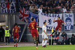 Roma's Stephan El Shaarawy celebrates scoring his side's first goal of the game