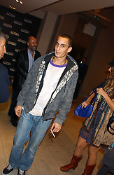 ALEX DELLAL at a cocktail party hosted by MAC cosmetics to kick off London Fashion Week at The Hospital, 22 Endell Street London on 18th September 2005.At the event, top model Linda Evangelista presented Ken Livingston the Lord Mayor of London with a cheque for £100,000 in aid of the Loomba Trust that aims to privide education to orphaned children through a natural disaster or through HIV/AIDS.<br />