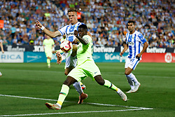September 26, 2018 - Dembele of FC Barcelona during the La Liga (Spanish Championship) football match between CD Leganes and FC Barcelona on September 26th, 2018 at Municipal Butarque stadium in Madrid, Spain. (Credit Image: © AFP7 via ZUMA Wire)