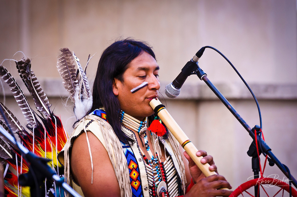 Native American performer at Trocadero Square, Paris, France