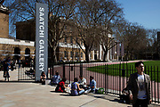 Entrance to the Saatchi Gallery, Chelsea. One of the largest and most respected galleries in London.