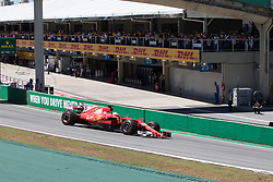 November 12, 2017 - Sao Paulo, Sao Paulo, Brazil - 5 SEBASTIAN VETTEL, of Scuderia Ferrari drives during the Formula One Grand Prix of Brazil at Interlagos circuit, in Sao Paulo, Brazil on November 12, 2017. (Credit Image: © Paulo Lopes via ZUMA Wire)