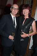Neil Tennant; Janet Street-Porter, DINNER TO CELEBRATE THE ARTISTS OF FRIEZE PROJECTS AND THE EMDASH AWARD 2012 hosted by ANDREA DIBELIUS founder EMDASH FOUNDATION, AMANDA SHARP and MATTHEW SLOTOVER founders FRIEZE. THE FORMER CENTRAL ST MARTIN'S SCHOOL OF ART AND DESIGN, SOUTHAMPTON ROW, LONDON WC1. 11 October 2012