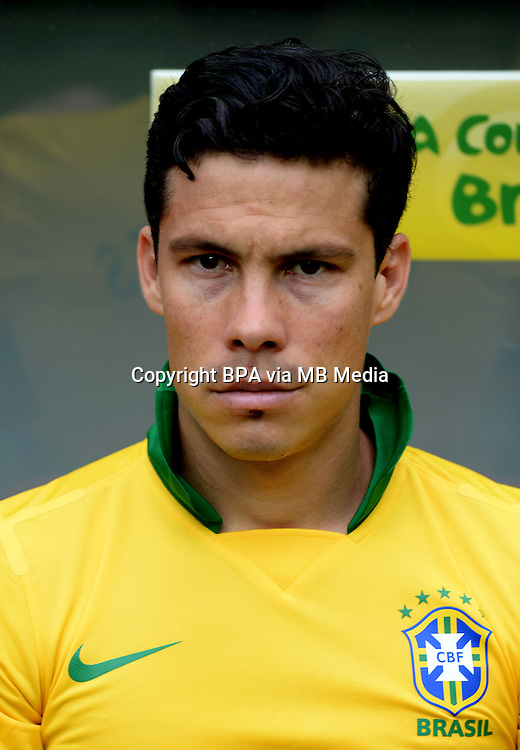 Fifa Brazil 2013 Confederation Cup / Group A Match /<br /> Brazil vs Japan 3-0  ( National / Mane Garrincha Stadium - Brasilia , Brazil )<br /> ANDERSON HERNANES  of Brazil , during the match between Brazil and Japan