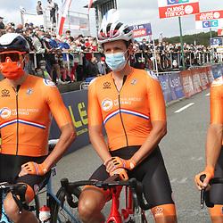 26-08-2020: Wielrennen: EK wielrennen: Plouay<br /> Koen de Kort, Mathieu van der Poel