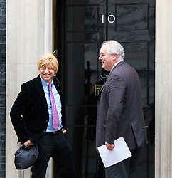 London, November 29 2017. Michael Fabricant (left) is seen walking up Downing Street to a meeting at No. 10. © Paul Davey