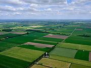 Nederland, Gelderland, Herwijnen, 14-05-2020; radarstation van Herwijnen, voormalige radarpost voor defensie en Luchtverkeersleiding Nederland. De radartoren doet nu dienst als neerslagradar (buienradar) voor het KNMI.<br /> Radar station of Herwijnen, in the past radar station for Defense and Air Traffic Control the Netherlands. The radar tower now serves as a precipitation radar (rain radar) for the KNMI.<br /> <br /> aerial photo (additional fee required);<br /> copyright foto/photo Siebe Swart
