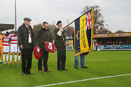 Minutes silence during the The FA Cup match between AFC Wimbledon and Doncaster Rovers at the Cherry Red Records Stadium, Kingston, England on 9 November 2019.