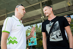 Jure Zdovc, Head coach and Rado Trifunovic during meeting of Slovenian National Nasketball Team at the beginning of Training camp for Eurobasket 2015, on July 18, 2015 in Ljubljana, Slovenia. Photo by Vid Ponikvar / Sportida
