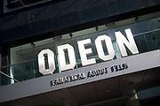 West End cinema in London's most famous place for cinemas and premieres, Leicester Square. The Odeon.