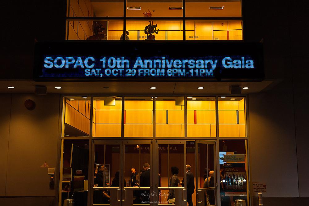 SOPAC 10th Anniversary Gala sign.