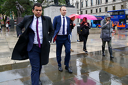 © Licensed to London News Pictures. 10/06/2019. London, UK. Matt Hancock MP (2nd from left), candidate for the leadership of the Conservative Party and to become Prime Minister is seen Westminster. Photo credit: Dinendra Haria/LNP