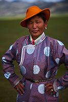 Mongolie, province de Uvs, région de l'ouest, nomades d'ethnie Bayad dans la steppe // Mongolia, Uvs province, western Mongolia, nomads in the steppe