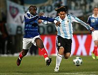 Fotball<br /> Frankrike v Argentina<br /> Foto: DPPI/Digitalsport<br /> NORWAY ONLY<br /> <br /> FOOTBALL - FRIENDLY GAMES 2008/2009 - FRANCE v ARGENTINA - 11/02/2009 - CARLOS TEVEZ (ARG) / LASSANA DIARRA (FRA)