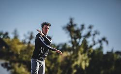 29.09.2018, Energie AG Skisprung Arena, Hinzenbach, AUT, FIS Ski Sprung, Sommer Grand Prix, Hinzenbach, im Bild Stefan Kraft (AUT) // Stefan Kraft of Austria during FIS Ski Jumping Summer Grand Prix at the Energie AG Skisprung Arena, Hinzenbach, Austria on 2018/09/29. EXPA Pictures © 2018, PhotoCredit: EXPA/ JFK