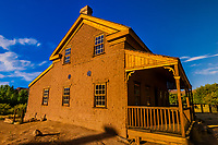 "The Alonzo Russell Home. This was the location of the bicycle scene in the movie ""Butch Cassidy and the Sundance Kid"".  The ghost town of Grafton (settled by Mormon in 1847, the people of the town were killed in January 1866 by Navajo Indians near Colorado City, AZ). The ghost town, near Rockville, Utah, USA, is a National Register Historic Site."