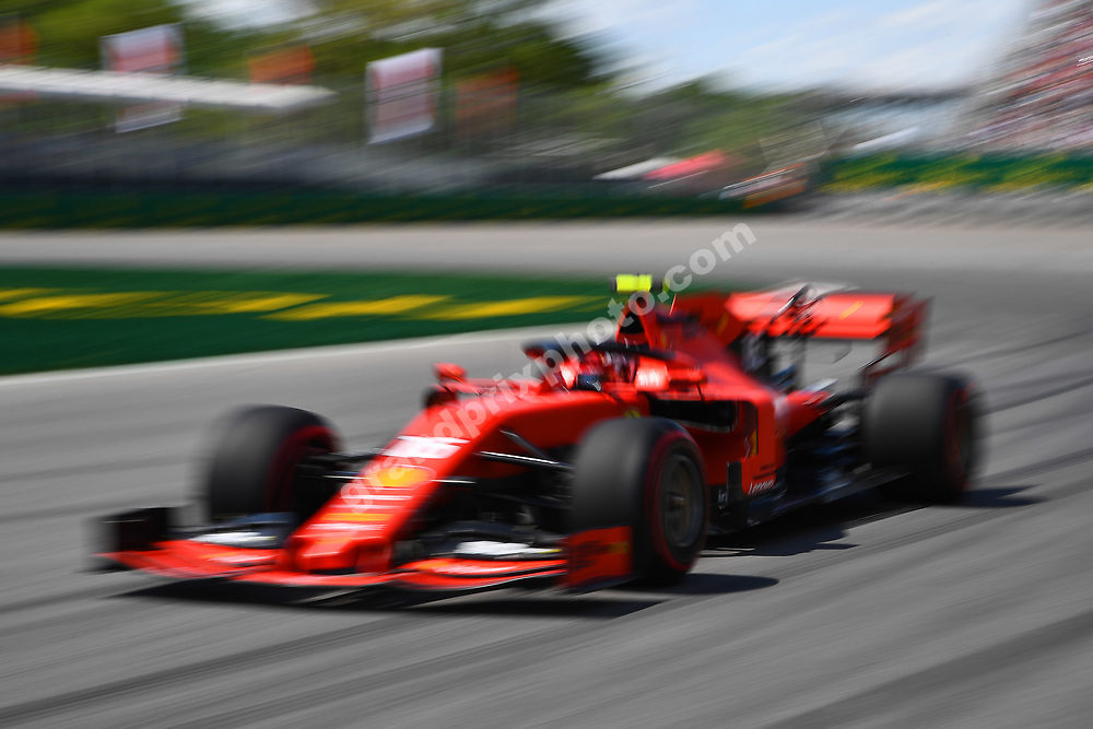 Charles Leclerc (Ferrari) during practice for the 2019 Canadian Grand Prix in Montreal. Photo: Grand Prix Photo