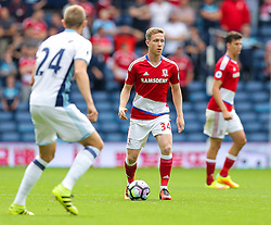 Adam Forshaw of Middlesbrough in action - Rogan Thomson/JMP - 28/08/2016 - FOOTBALL - The Hawthornes - West Bromwich, England - West Bromwich Albion v Middlesbrough - Premier League.