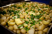Meal made from potatoes. Food Cycle is a small charity based in East London that uses food donated by supermarkets, that would otherwsie be wasted, to make free meals for those in need, working in collaboration with several homeless shelters and community groups in London.