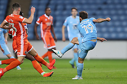 Coventry City's Tony Andreu scores their first goal