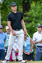 May 4, 2019 - Charlotte, NC, U.S. - CHARLOTTE, NC - MAY 04: Justin Rose watches his putt on the 3rd green during the third round of the Wells Fargo Championship at Quail Hollow on May 4, 2019 in Charlotte, NC. (Photo by William Howard/Icon Sportswire) (Credit Image: © William Howard/Icon SMI via ZUMA Press)