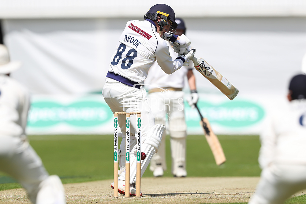 *** during the opening day of the Specsavers County Champ Div 1 match between Yorkshire County Cricket Club and Hampshire County Cricket Club at Headingley Stadium, Headingley, United Kingdom on 27 May 2019.
