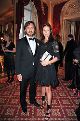 MARC NEWSON and CHARLOTTE STOCKDALE at a dinner hosted by HRH Prince Robert of Luxembourg in celebration of the 75th anniversary of the acquisition of Chateau Haut-Brion by his great-grandfather Clarence Dillon held at Lancaster House, London on 10th June 2010.