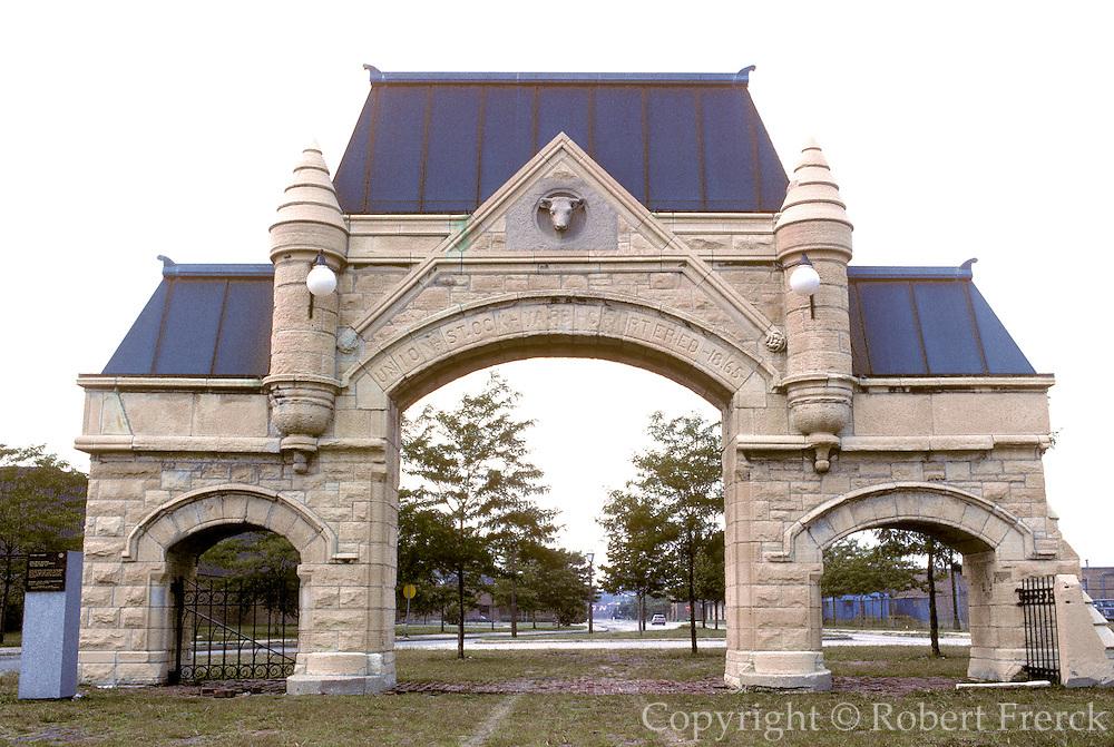 CHICAGO, HISTORIC ARCH. Chgo Stock Yard Gates