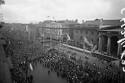 1916 Jubilee Commemorations - Parade and Ceremonies at the General Post Office on O'Connell Street. A general view of the procession.10.04.1966
