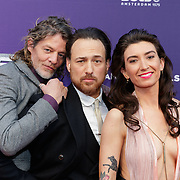 NLD/Amsterdam/20190415 - Filmpremiere première Baantjer het Begin, Tygo Gernandt,  Arne Toonen en Linda Lugtenborg