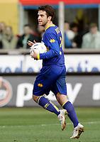 """L'esultanza di Giuseppe Rossi (Parma) dopo il gol del 2-2<br /> Giuseppe Rossi (Parma) celebrates after scoring goal<br /> Italian """"Serie A"""" 2006-07<br /> 04 Mar 2007 (Match Day 27)<br /> Parma-Reggina (2-2)<br /> """"Ennio Tardini""""-Stadium-Parma-Italy<br /> Photographer: Luca Pagliaricci INSIDE"""