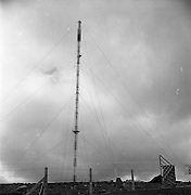 05/09/1961<br /> 09/05/1961<br /> 05 September 1961<br />  Minister for Posts and Telegraphs Michael Hilliard launches Telefis Eireann. The Kippure transmitter site, Co. Dublin/Wicklow.