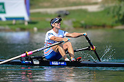 Bled, SLOVENIA. GBR LM1X, Adam FREEMAN-PASK, Third SemiFinal A/B 2, 2011 FISA World Rowing Championships, Lake Bled. Thursday  01/09/2011   [Mandatory Credit; Intersport Images]