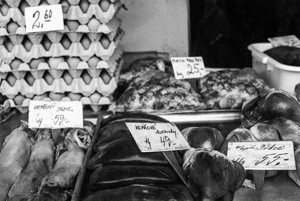Butchers offer in Zizkov.