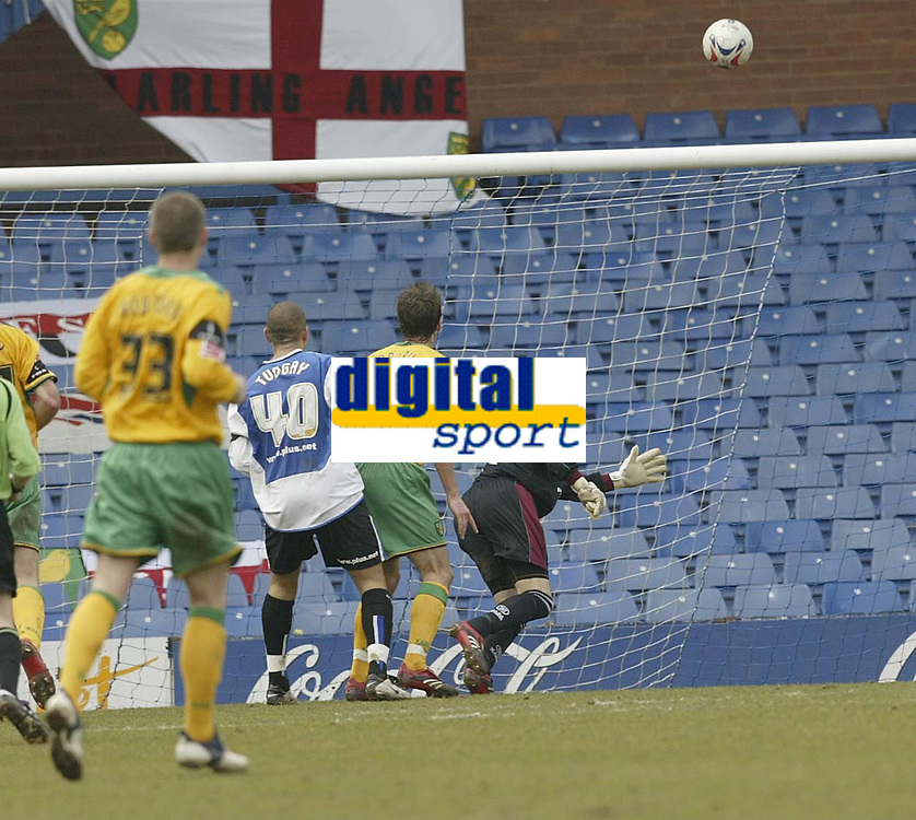 Photo: Aidan Ellis.<br /> Sheffield Wednesday v Norwich City. Coca Cola Championship. 15/04/2006.<br /> Wednesday's Marcus Tudgay scores the only goal